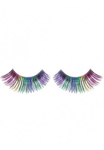 Metallic Dark Rainbow Eyelashes