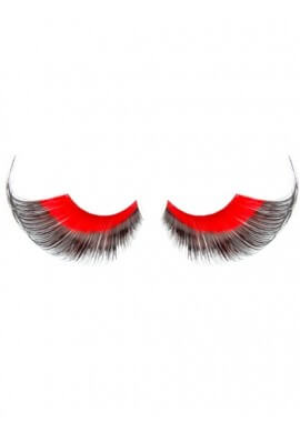 Red and Black Eyelashes