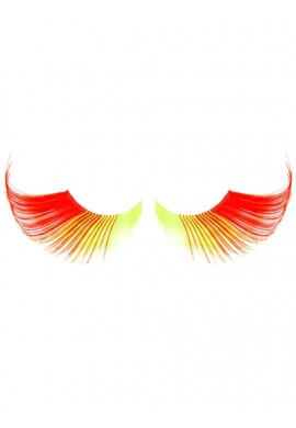 Red and Yellow Eyelashes
