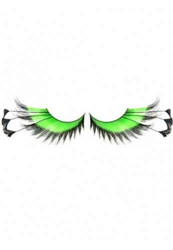 Green Feathered Eyelashes