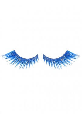Glittered Blue Eyelashes