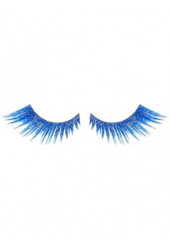 Glittered Blue Eyelashes