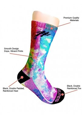 Cotton Candy Galaxy Socks