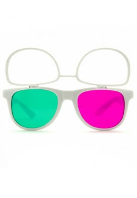 White Flip 3Diffraction Glasses
