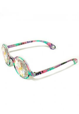 Aztec Rainbow Kaleidoscope Glasses