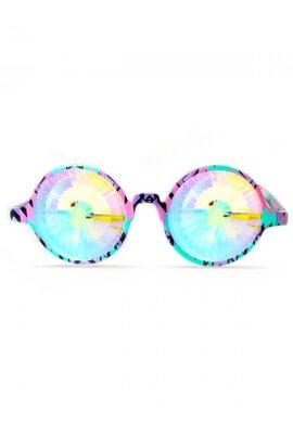 Aztec Rainbow Wormhole Kaleidoscope Glasses