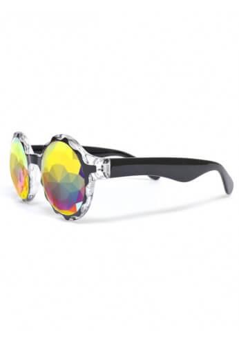 Black Crown Fractal Kaleidoscope Glasses