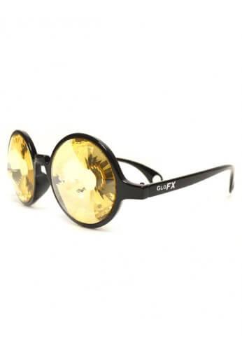 Black Gold Wormhole Kaleidoscope Glasses