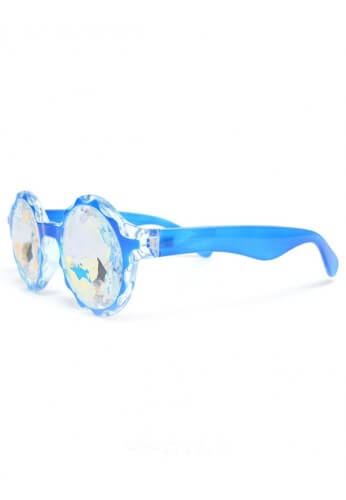 Blue Crown Rainbow Kaleidoscope Glasses