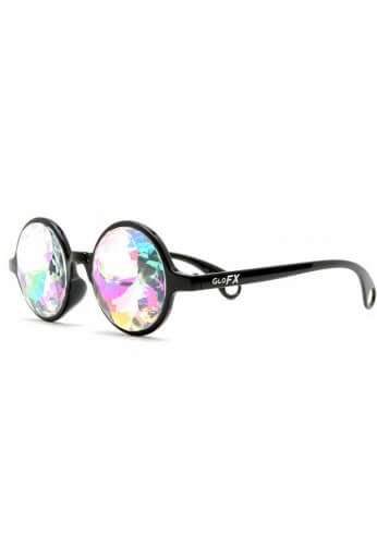 Black Rainbow Kaleidoscope Glasses