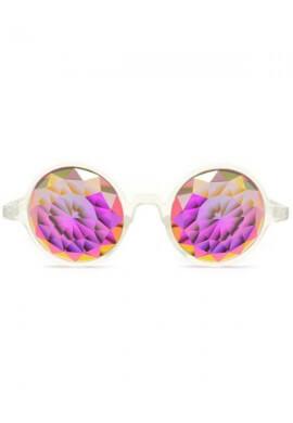 Clear Fractal Kaleidoscope Glasses
