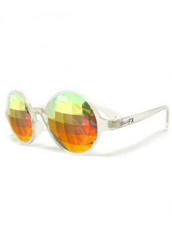 Clear Rainbow Bug Kaleidoscope Glasses
