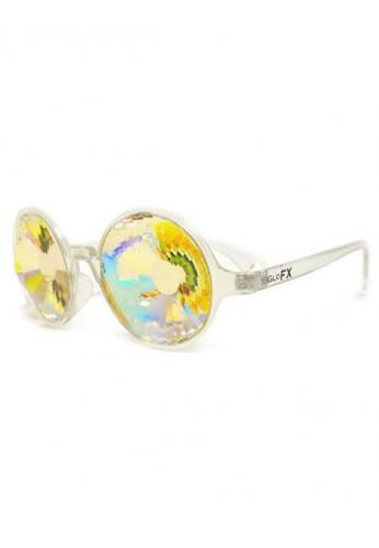 Clear Rainbow Wormhole Kaleidoscope Glasses