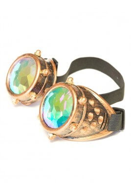 Copper Bolt Kaleidoscope Goggles