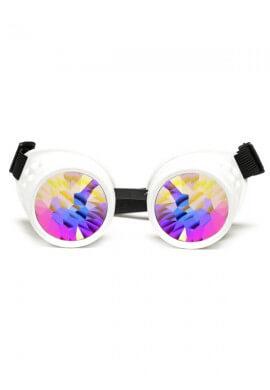 White Kaleidoscope Goggles