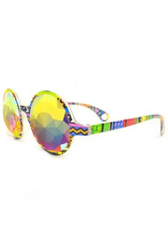 Tribal Fractal Kaleidoscope Glasses