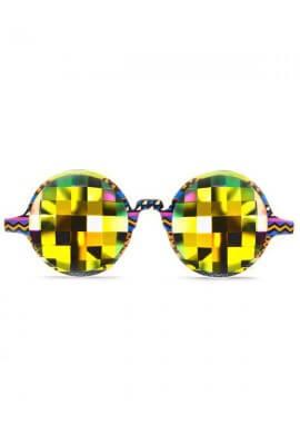 Tribal Rainbow Bug Kaleidoscope Glasses