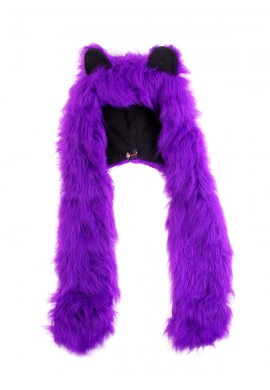 Purple Fluffy Hood
