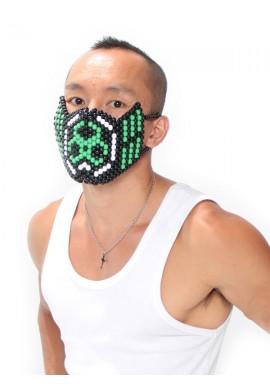 Green Biohazard Kandi Mask