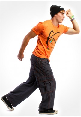 "23"" Charcoal Microsuede Cargo Pants"