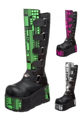 Techno UV Circuitry Boots
