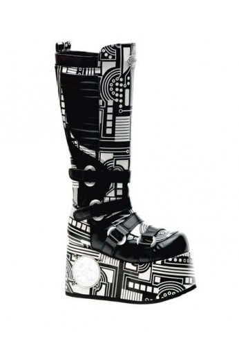 Black and White Techno Boots