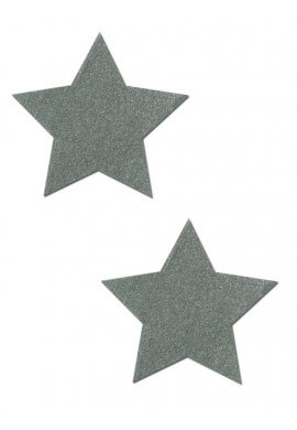 Silver Glitter Star Pastease