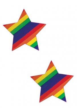 Striped Rainbow Star Pastease