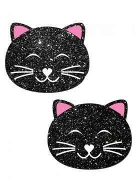 Black Glitter Kitty Pastease