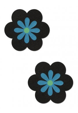 Black and Turquoise Daisy Pasties
