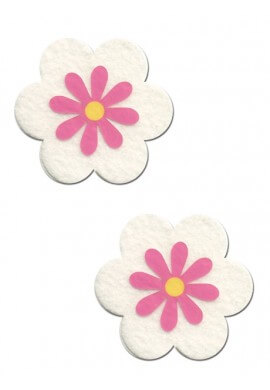 White and Pink Daisy Pasties