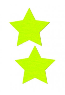 Neon Yellow Star Pastease
