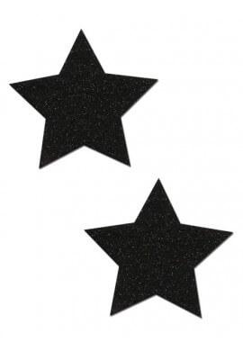 Black Sparkle Star Pastease