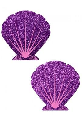 Purple Mermaid Shells Glitter Pastease