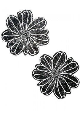 Black Glitter Electric Daisy Pastease