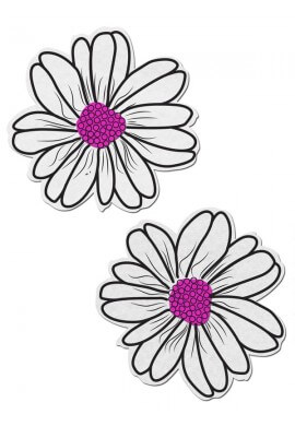 White and Pink Electric Daisy Pastease