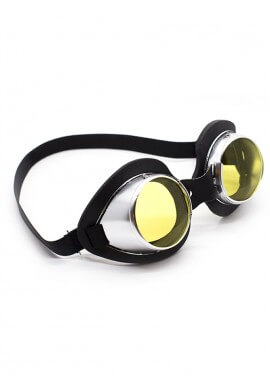 Silver Aluminum Goggles