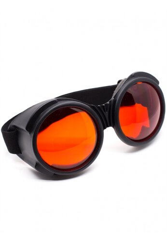 Flat Black Cyber Goggles with Red Lenses