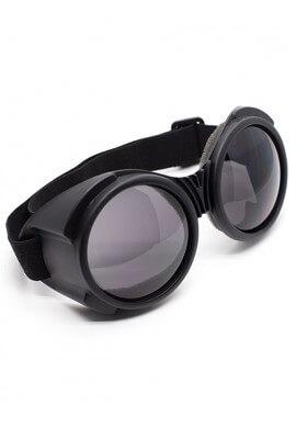 Flat Black Bugeye Cyber Goggles