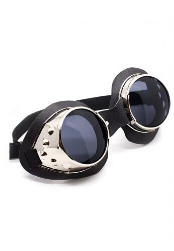 Silver Metal Cyber Goggles