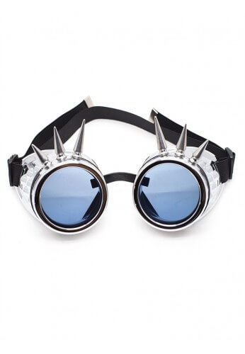 Chrome Spiked Goggles