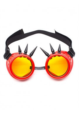 Red Spiked Goggles