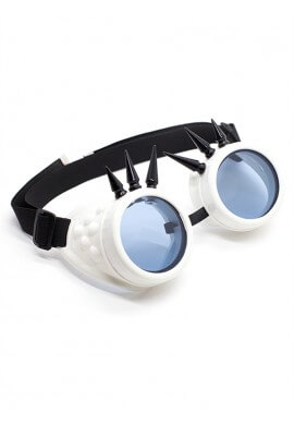 White Spiked Goggles
