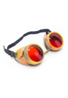 Orange Camo Goggles