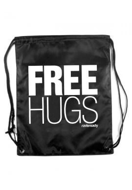 Free Hugs Drawstring Bag