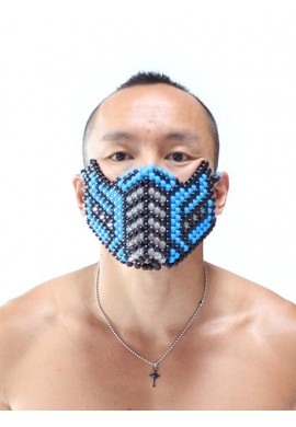 Blue Subzero Kandi Mask
