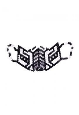 White Subzero Kandi Mask