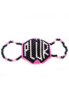 Glowing PLUR Kandi Mask