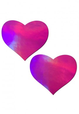 Pink Holographic Heart Pasties from Pastease