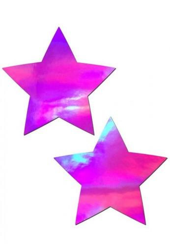 Pink Hologram Star Pasties